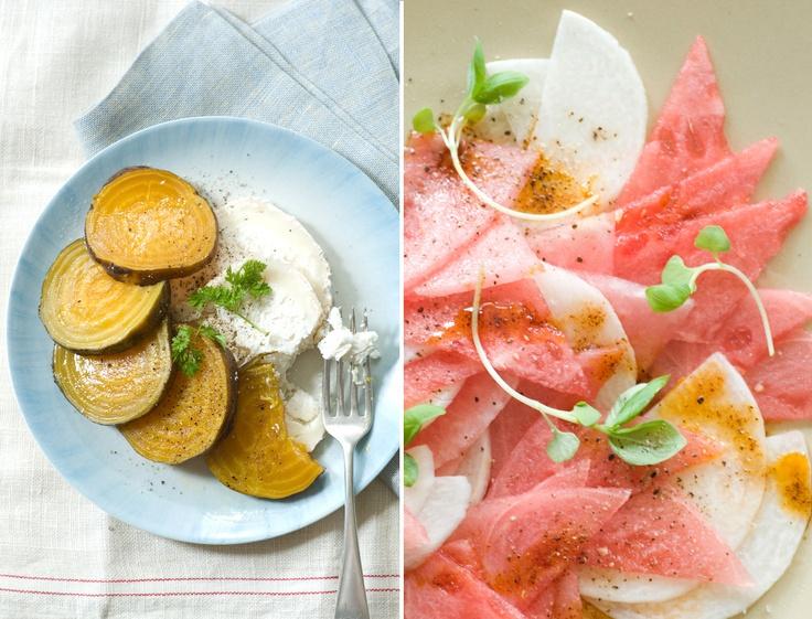 ... Salad; Summer Squash & Goat Cheese Tart; Heirloom Tomato & Panzan...