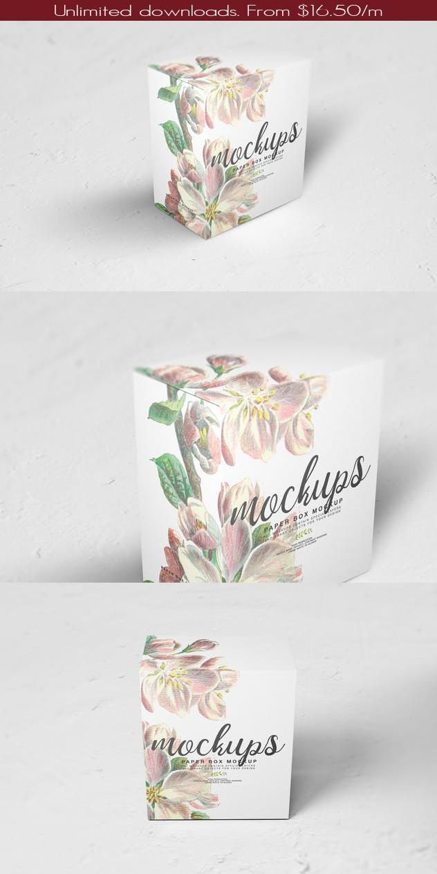 Download Paper Box Mockup 11 In 2020 Box Mockup Paper Box Paper