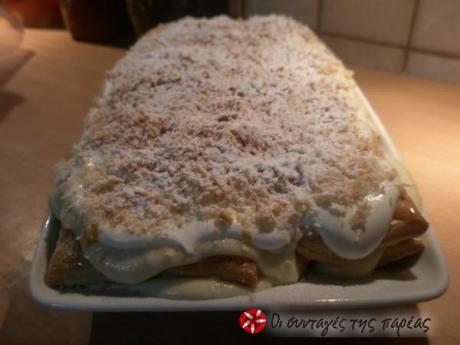 Εγώ την είδα στην τηλεόραση απο το Νικο Νερολαδάκη! Είναι η συνταγή απο τα ζαχαροπλαστεία Κωνσταντινίδη.