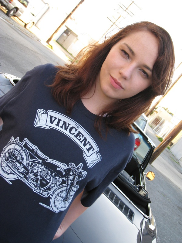 The Vincent Black Shadow Motorcycle T Shirt Is Available