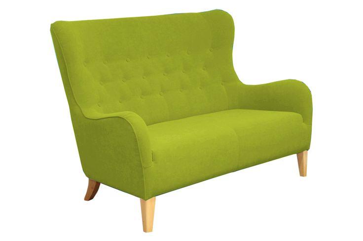 Zielona sofa dwuosobowa Soft Green | DESIGNERSKI