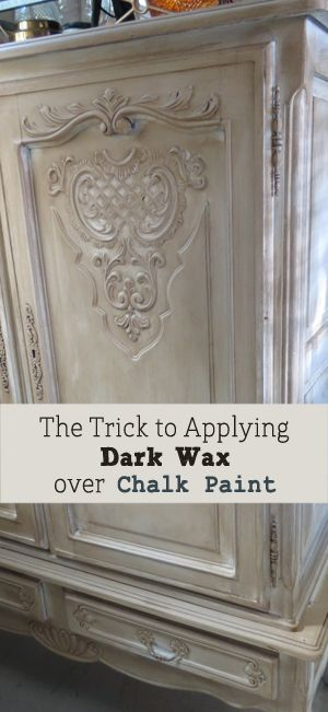 There is a little trick to applying dark wax to chalk paint. Its super important to know before you apply it or you could end up having redo a lot of your work. Its crucial that before you apply the dark wax, you apply a full coat of clear wax