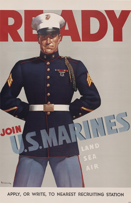USMC: Vintage Marines, Posters Archives, Metals Prints, Vintage Usmc, Recruitment Posters, My Friends, Usmc Thanks, Marines Corps, Joining Usmc