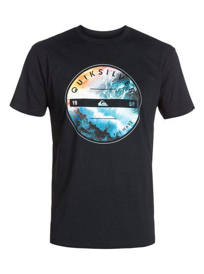quiksilver, Classic Tee Being There, ANTHRACITE (kvj0)