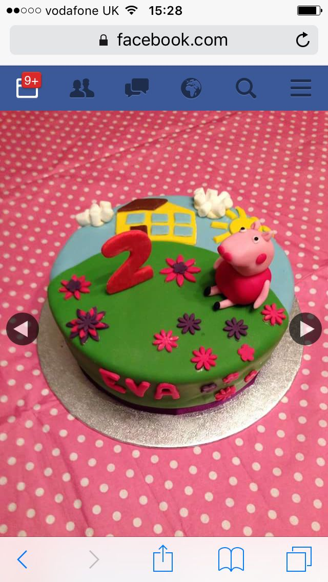 Peppa pug birthday cake
