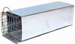This model is the most popular Skunk trap a it allows the trapper protection due to the protective covering.  Enclosure also helps keep the Skunk calm. https://www.moorepet.com/Deluxe-Single-Door-Rigid-Trap-Model-105-2-p/model-105.2.htm