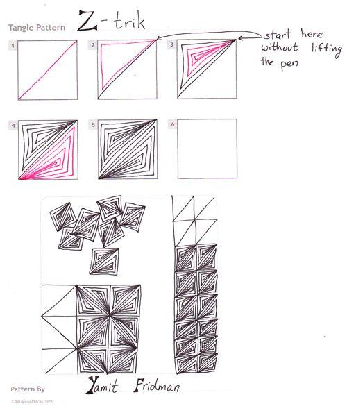 Steps for Yamit Fridman's Z-trik tangle