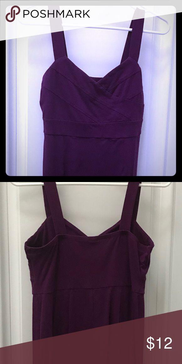 Purple Heart Shape Dress Slight worn knee length, heart shaped, tank dress. You can dress it up or keep it casual. Dresses Midi
