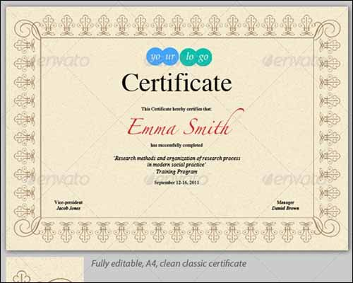 206 Best Certificate Design Images On Pinterest | Certificate