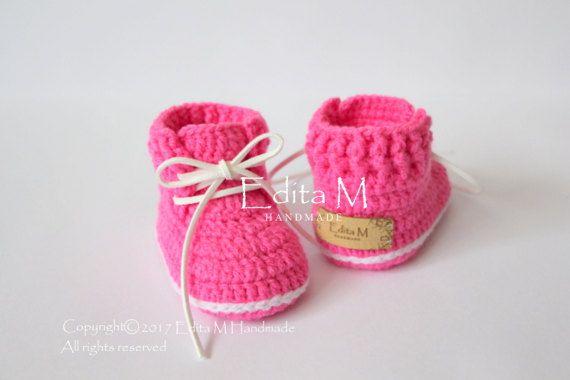 Crochet baby booties baby shoes boots baby girl sneakers