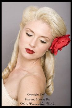 Pin up girl wedding hair style. LOVE THIS!!!!