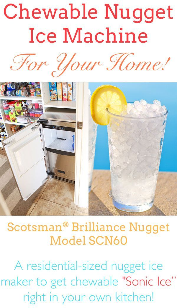 """Buy a """"good ice"""" ice maker!!! Residential Nugget Ice Machine for Chewable Ice at Home! #Scotsman www.scotsmanhomeice.com"""