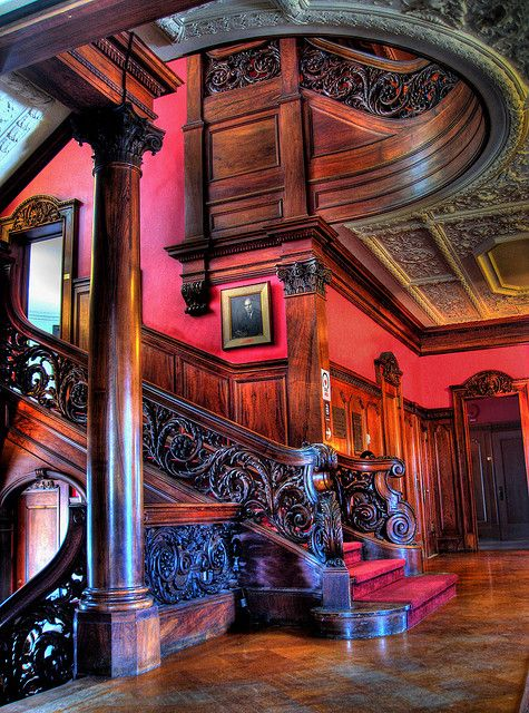 The Oak Library room in Morrison hall aka the Webb horton Mansion. Morrison hall was completed in 1906 for Pennsylvania oil magnate Webb horton. It is a magnificent 40 room, white marble, Chateauesque Mansion designed by Frank T. Lindsey in Middletown, NY It is now used as administrative offices for Orange Community College.