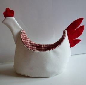 Le panier poule {tuto} - Couture