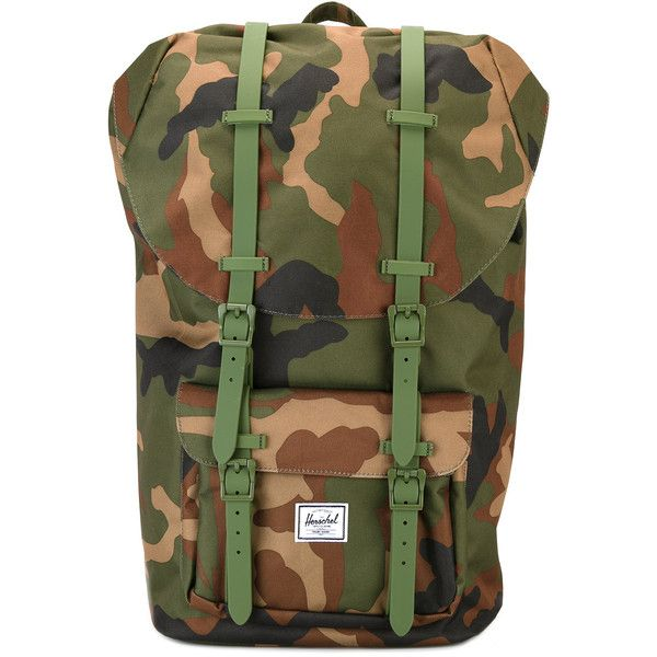 Herschel Supply Co. camouflage backpack ($113) ❤ liked on Polyvore featuring bags, backpacks, green, backpack bags, day pack backpack, camo bags, camo backpacks and herschel supply co backpack