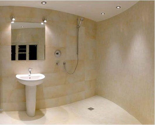 Small Bathroom. Wet Room