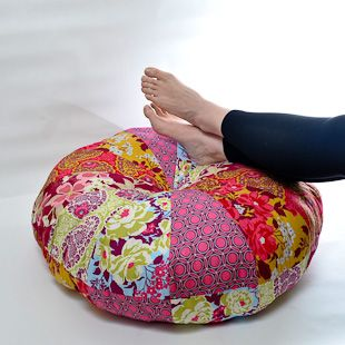 At the end of the day there is nothing better than putting your feet up and relaxing with this perfect handmade pouf! Make your own with #MinistryofCraft #PatchworkPouf