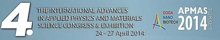 4th International Advances in Applied Physics & Materials Science Congress & Exhibition (APMAS 2014): http://www.tumkongreler.com/kongre/14th-international-advances-applied-physics-materials-science-congress-exhibition-apmas-2014 #material sciences #applied physics