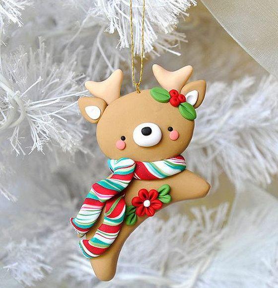 Rena Enfeite de Natal Biscuit 5cm                                                                                                                                                                                 Mais