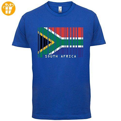 South Africa / Südafrika Barcode Flagge - Herren T-Shirt - Royalblau - XXXL (*Partner-Link)