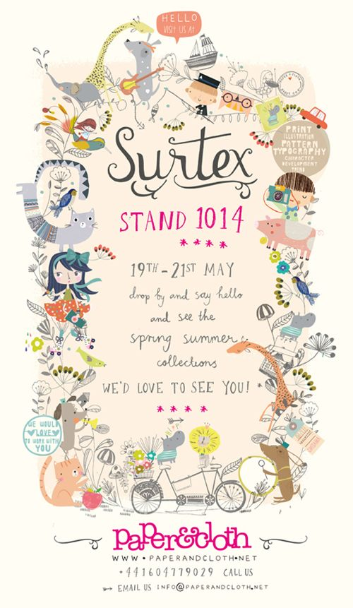 love print studio blog: Paper & Cloth at Surtex...