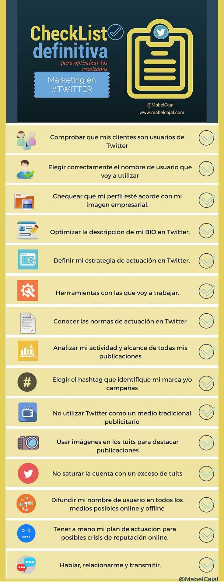 No debes descuidar tu estrategia de Marketing en Twitter. Esta checklist te ayudará a no olvidar todos los aspectos y elementos que debes revisar.