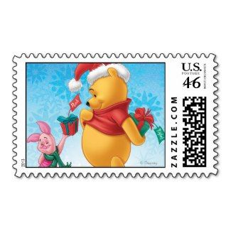 Winnie the Pooh Christmas Stamps #disney