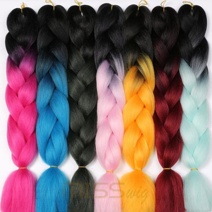 MISS WIG Ombre Kanekalon Braiding Hair Extensions 24inch 100g Synthetic Jumbo Braids Hair Fiber Pink Purple Blue Green 1pce $11.99   #beauty #streetstyle #beautiful #model #style #swag #dress #instastyle #love #cool #instafashion #shopping #ootd #cute #glam