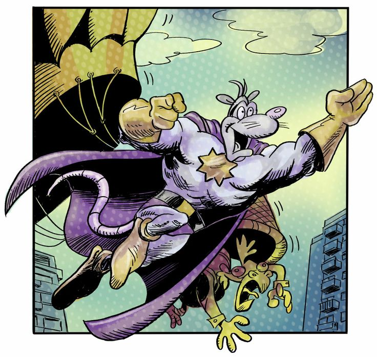 """Awesome Possum from """"Eye Eye Eye"""" written by Ian Boothby and coloured by Tanya Lehoux"""