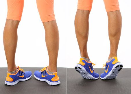 100 toes-in calf raise pulses same as normal calf raise pulses but toes pointed inward