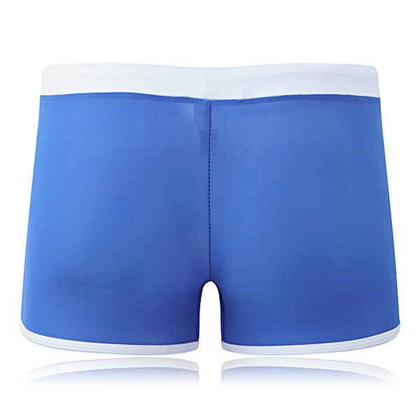 Stitching Printing Front Zipper Pocket Quick Drying Beach Shorts Swim Trunks for Men at Banggood