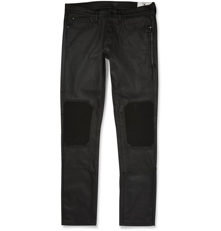<a href='http://www.mrporter.com/mens/Designers/Belstaff'>Belstaff</a> is known for its stylish motocross-inspired designs, and these 'Blackrod' trousers not only look good but have been designed to incorporate a host of technical features. They're made from a heavyweight 11oz stretch-denim that's resin-coated, ensuring a resilient finish. The knees are fitted with ribbed quilting which enhances ease of movement and further supports and protects. Wear them with one of the brand's waxed…