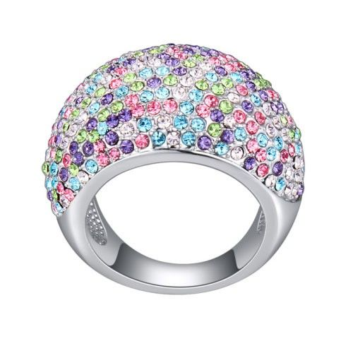 $14,9 Mercury Swarovski crystal engagement ring - Yohanna Jewelry Wholesale. BEST PRICE: Directly in the jewelry factory. VAT-free shopping: Available, partners based in the European Union, only applies to EU tax identification number (UID). Exclusive design SWAROVSKI crystals and AAA Zircon crystal engagement rings, wedding & bridal rings, cocktail party rings.