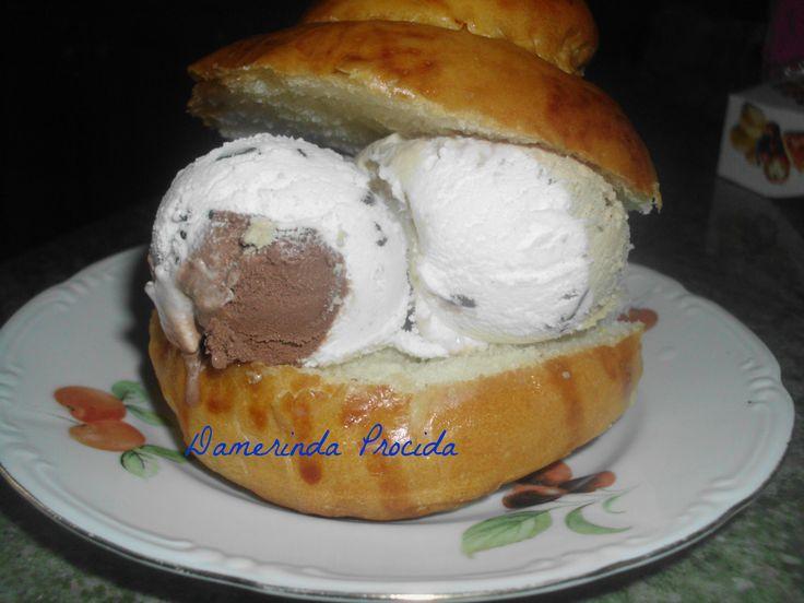 brioche con gelato