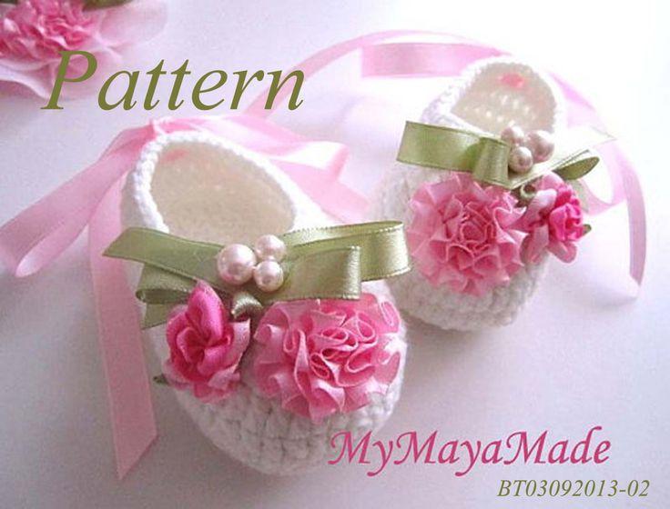 Crochet Pattern  Pink Flowery Beaded Crochet Baby by MyMayaMade, $5.99