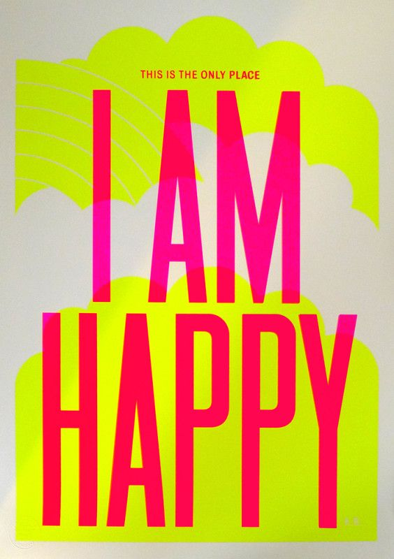 We love this neon Anthony Burrill print — it goes pride of place in the middle of our studio