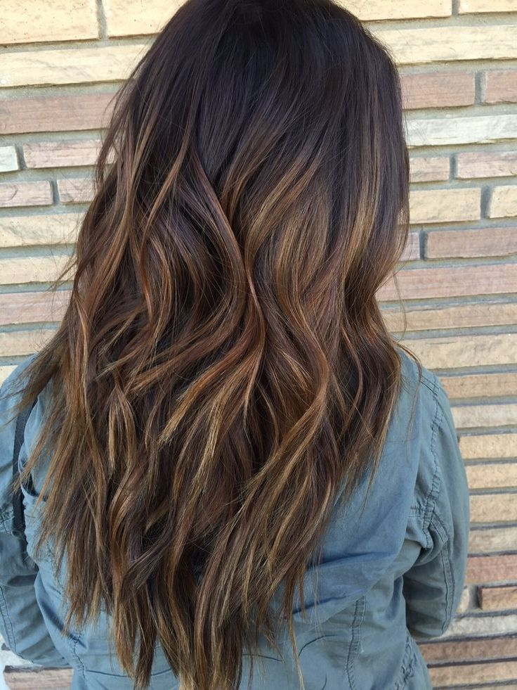 From burgundy hair color to a caramel dimensional balayage. by Jonah. | Yelp