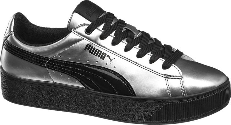 #Puma #Sneaker #VIKKI #PLATFORM #METALLIC #silber für #Damen Farbe silber Laufsohle Gummi Obermaterial Synthetik Innenmaterial Textil Mesh