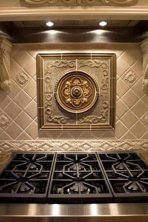 Wonderful Round Sonoma Medallion Custom Ordered From Fiorano Tile Showrooms Backsplash Tilekitchen