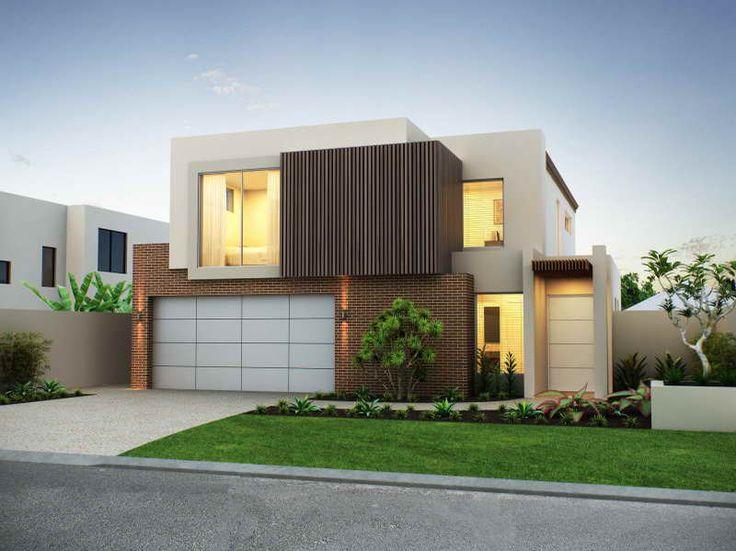 Modern House Facade with nice garage
