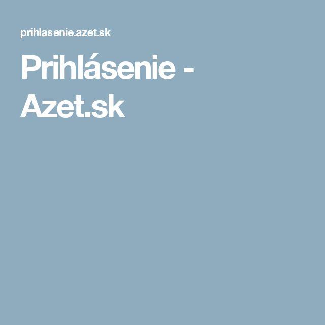 Prihlásenie - Azet.sk