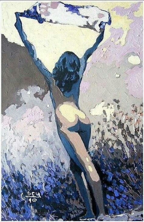 The wind, oil on canvas/by Constantin Paunescu