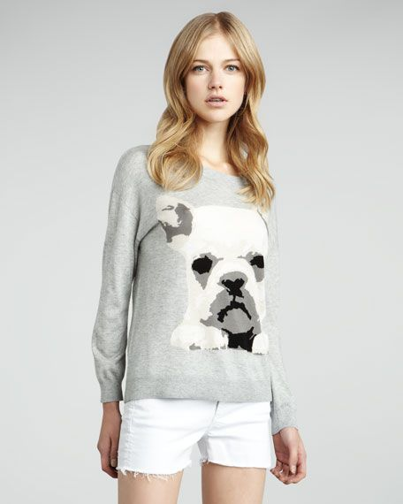 French Bulldog Sweater, Joie $298