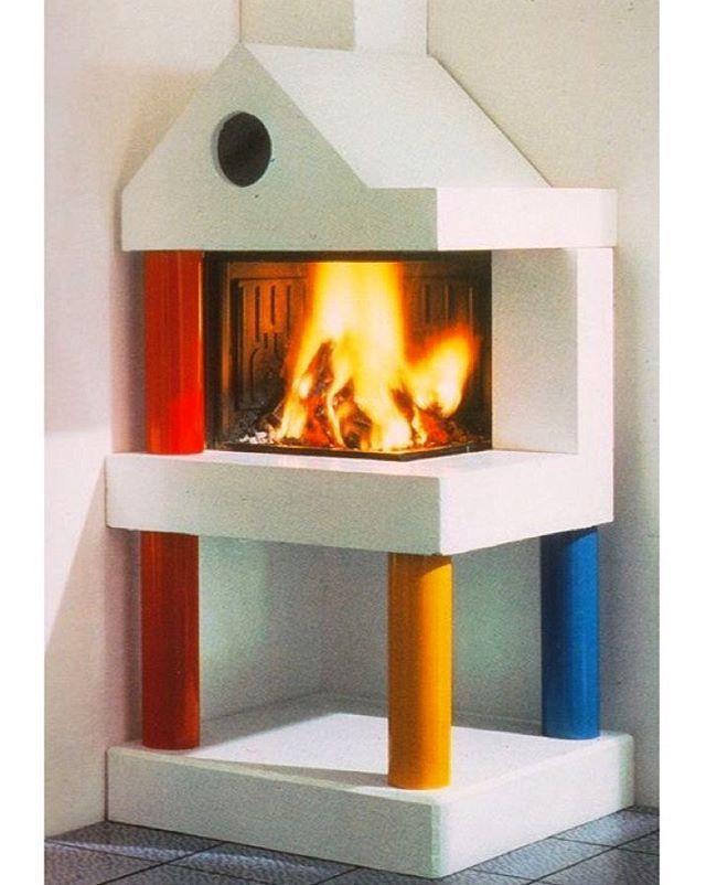🔥 Qovadis Fireplace 🔺🔸🔹 Davide Mercatali, 1985 … #davidemercatali #1985 #neontalk