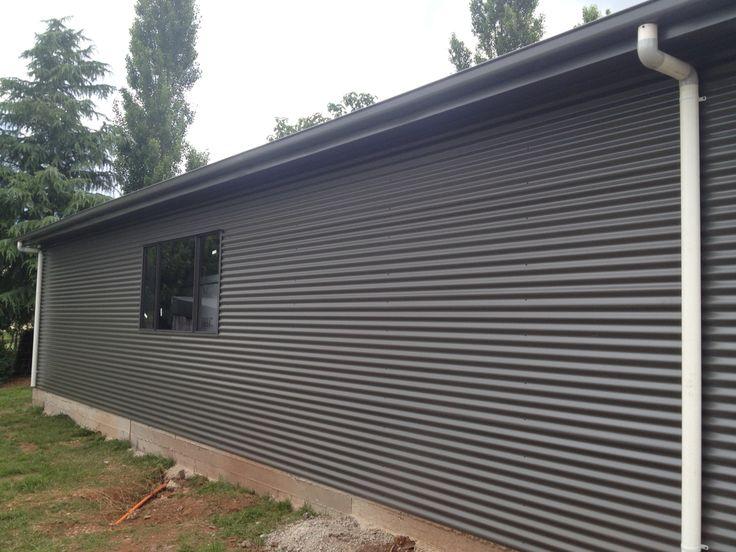 Sidewall of Ultraspan shed, horizontal clad. Including window built by Kieren Lee Plumbing & Construction 0428690696