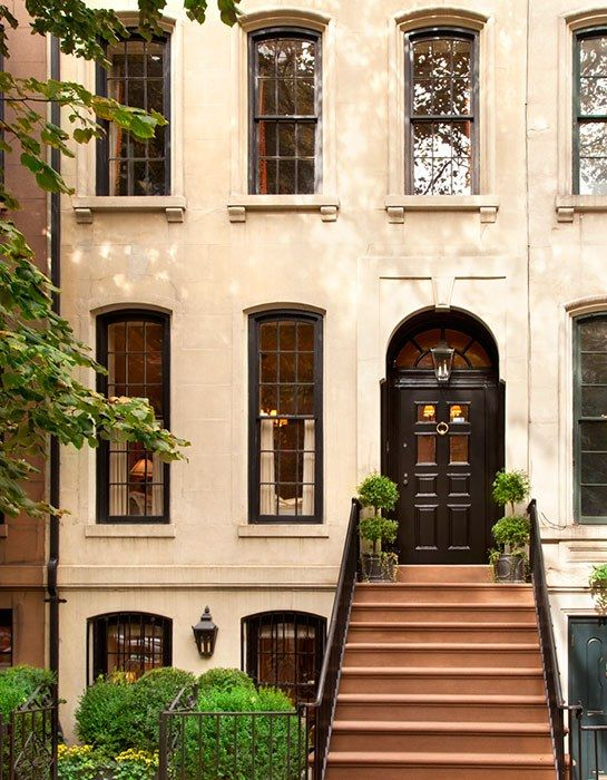 The Exterior Facade Of A 1910 New York City Townhouse