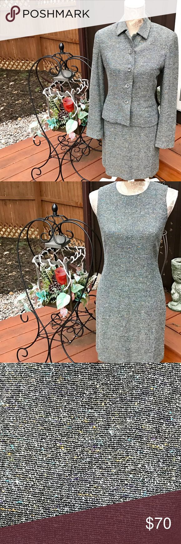 VTG NEIMAN MARCUS ISABEL ARDEE DRESS/JACKET SIZE 4 BEAUTIFUL VINTAGE NEIMAN MARCUS ISABEL ARDEE SHEATH DRESS WITH MATCHING JACKET TWEED GRAY & MULTICOLORED WITH BLUES, YELLOWS, WHITE.  THE SIZE IS 4. EXCELLENT CONDITION! Neiman Marcus Other