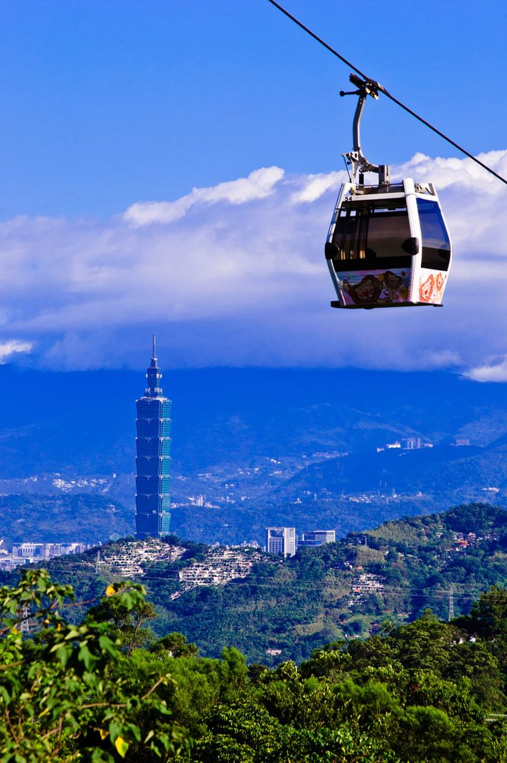 City view from Maokong Gondola - Crystal Cabin with Glass Bottom