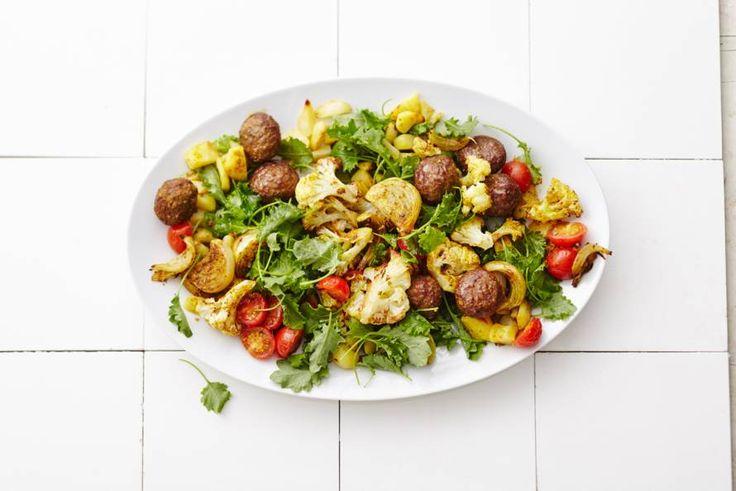 Een klassieke aardappel-groente-vlees-maaltijd met 3x zoveel groente!