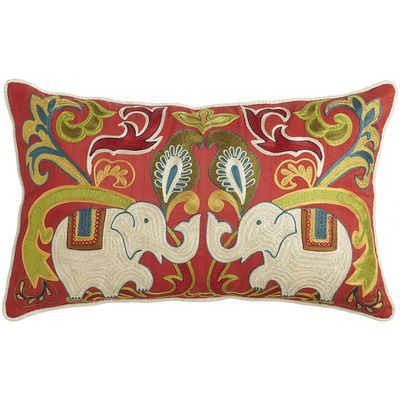 Elephant Embroidered Pillow My Favs from Pier 1 Pinterest Embroidered pillows, Elephants ...